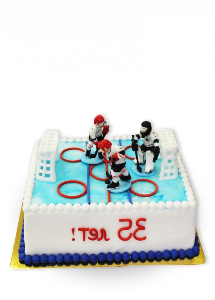 Трафарет хоккеиста на торт фото