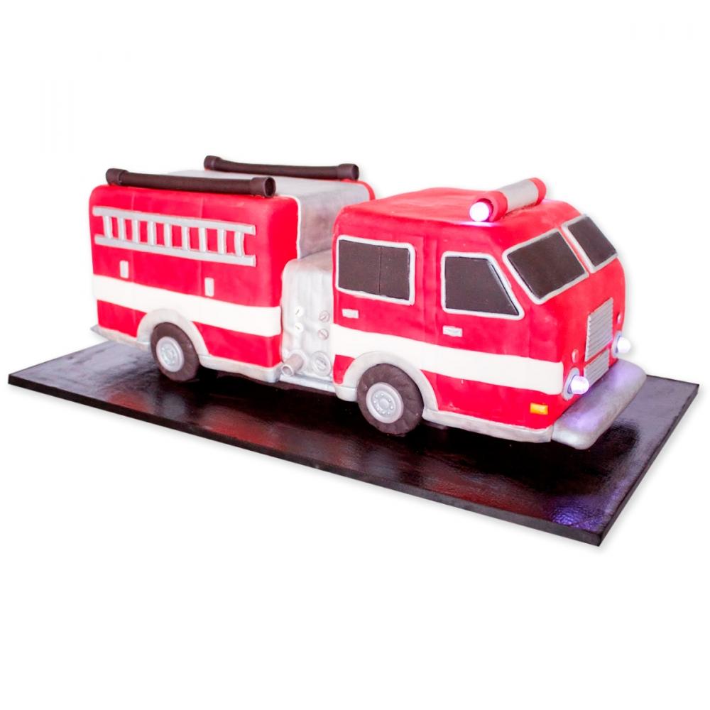 торт пожарная машина фото печать