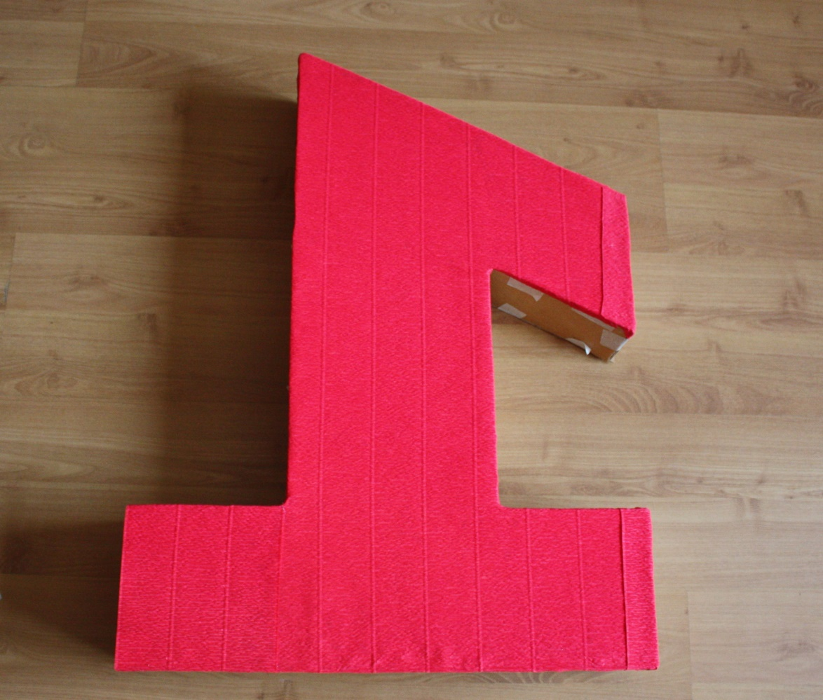 Цифра 1 из пенопласта размеры
